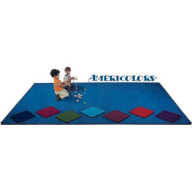 Children Educational Rugs AMERICOLORS 6FT Round Navy