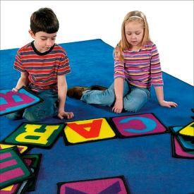 "Children Educational Rugs BUILDING BLOCKS 12""x12"""