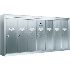 Surface Mount Vertical Series, 7 Door Mailbox, Anodized Aluminum