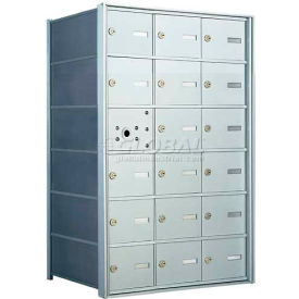 1400 Series Front Loading Horizontal Wall-Mounted Mailbox, 17 Compartments, Anodized Aluminum