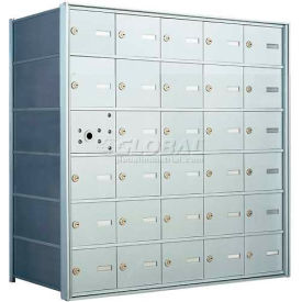 1400 Series Front Loading Horizontal Wall-Mounted Mailbox, 29 Compartments, Anodized Aluminum