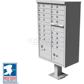 Vital Cluster Box Unit, 16 Mailboxes, 2 Parcel Lockers, White