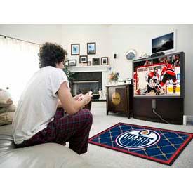 Edmonton Oilers 4 x 6 Rug