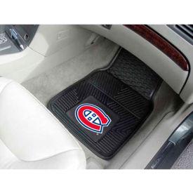 "NHL - Montreal Canadiens - Heavy Duty Vinyl 2 Piece Car Mat Set 17""W x 27""L - 10407"