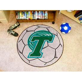 "Tulane Soccer Ball Rug 29"" Dia."