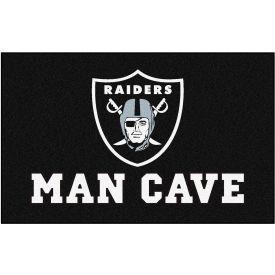 "Fan Mats NFL - Oakland Raiders Man Cave Ulti-Mat Rug 60"" X 96"" - 14350"