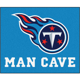 """Fan Mats NFL Tennessee Titans Man Cave Tailgater Rug 60"""" X 72"""" 14384 by"""