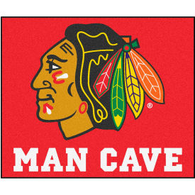 "Fan Mats NHL - Chicago Blackhawks Man Cave Tailgater Rug 60"" X 72"" - 14412"