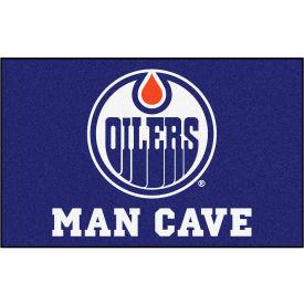 "Fan Mats NHL Edmonton Oilers Man Cave Ulti-Mat Rug 60"" X 96"" 14431"