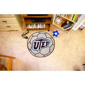 """UTEP Soccer Ball Rug 29"""" Dia."""