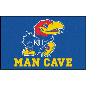 "Fan Mats University Of Kansas Man Cave Ulti-Mat Rug 60"" X 96"" - 14651"