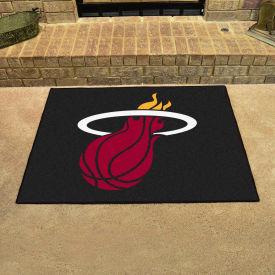 """Fan Mats NBA - Miami Heat All Star Mat, 33-3/4"""" x 42-1/2"""" - 19451"""