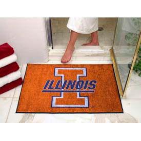 """Illinois All-Star Rug 34"""" x 45"""""""