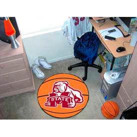 "Mississippi State Basketball Rug 29"" Dia."
