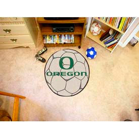 "Oregon Soccer Ball Rug 29"" Dia."