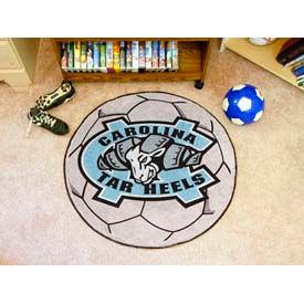 "UNC North Carolina - Chapel Hill Tar Heels Soccer Ball Rug 29"" Dia."