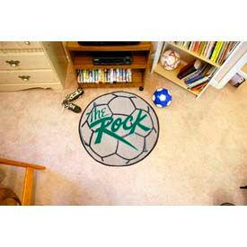 """Slippery Rock Soccer Ball Rug 29"""" Dia."""