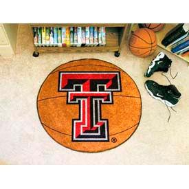 """Texas Tech Basketball Rug 29"""" Dia."""