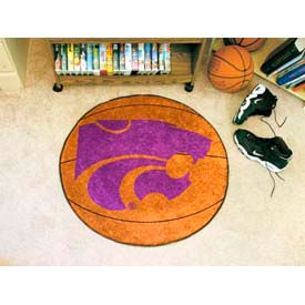 "Kansas State Basketball Rug 29"" Dia."