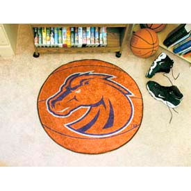 "Boise State Basketball Rug 29"" Dia."