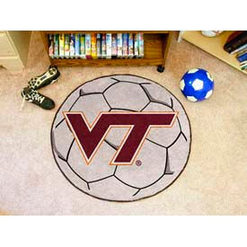 "Virginia Tech Soccer Ball Rug 29"" Dia."