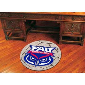 "Florida Atlantic Soccer Ball Rug 29"" Dia."