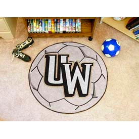 "University of Wyoming Soccer Ball Rug 29"" Dia."
