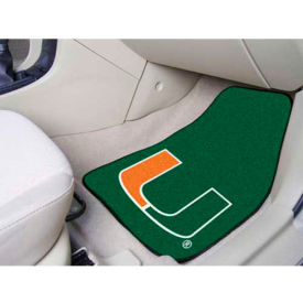 "University of Miami - 2 Piece Carpeted Car Mat Set 17""W x 27""L - 5456"