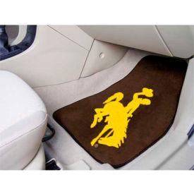 "University of Wyoming - 2 Piece Carpeted Car Mat Set 17""W x 27""L - 5497"
