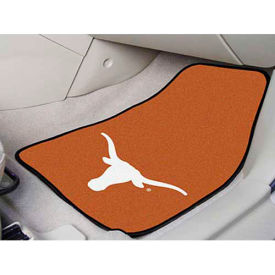 "University of Texas - 2 Piece Carpeted Car Mat Set 17""W x 27""L - 5641"