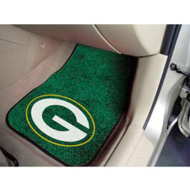 car mats front rear seat mats nfl green bay packers 2 piece carpeted car mats 18 x 27. Black Bedroom Furniture Sets. Home Design Ideas