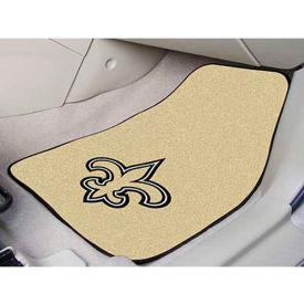 """NFL - New Orleans Saints - 2 Piece Carpeted Car Mat Set 17""""W x 27""""L - 5768"""