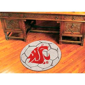 "Washington State Soccer Ball Rug 29"" Dia."