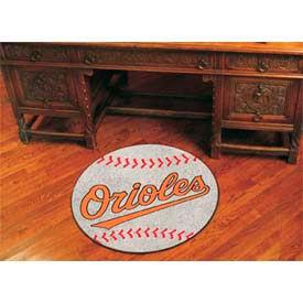 """Baltimore Orioles Baseball Rug 29"""" Dia."""