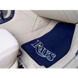 "MLB - Tampa Bay Rays - 2 Piece Carpeted Car Mat Set 17""W x 27""L - 6354"
