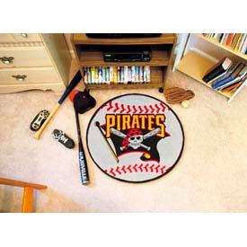 "Pittsburgh Pirates Baseball Rug 29"" Dia."