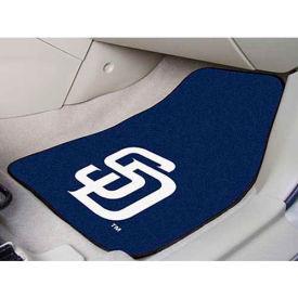 "MLB - San Diego Padres - 2 Piece Carpeted Car Mat Set 17""W x 27""L - 6533"