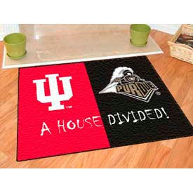 "Indiana-Purdue House Divided Rug 34"" x 45"""