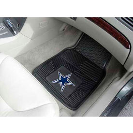 "NFL - Dallas Cowboys - Heavy Duty Vinyl 2 Piece Car Mat Set 17""W x 27""L - 8274"