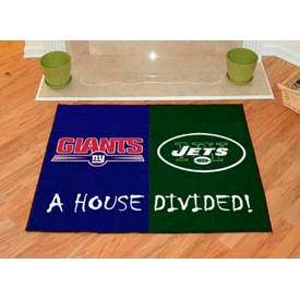 """NY Giants - NY Jets House Divided Rug 34"""" x 45"""""""