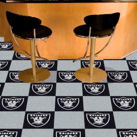 "Oakland Raiders Carpet Tiles 18"" x 18"" Tiles"