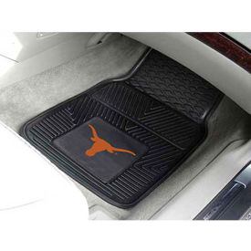 "University of Texas - Heavy Duty Vinyl 2 Piece Car Mat Set 17""W x 27""L - 8751"
