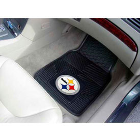 "NFL - Pittsburgh Steelers - Heavy Duty Vinyl 2 Piece Car Mat Set 17""W x 27""L - 8752"