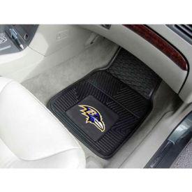 "NFL - Baltimore Ravens - Heavy Duty Vinyl 2 Piece Car Mat Set 17""W x 27""L - 8755"