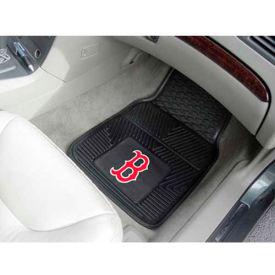 "MLB - Boston Red Sox - Heavy Duty Vinyl 2 Piece Car Mat Set 17""W x 27""L - 8760"