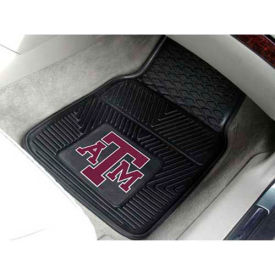 """Texas A&M University - Heavy Duty Vinyl 2 Piece Car Mat Set 17""""W x 27""""L - 8767"""