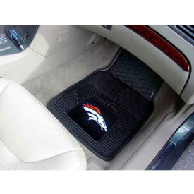 "NFL - Denver Broncos - Heavy Duty Vinyl 2 Piece Car Mat Set 17""W x 27""L - 8768"