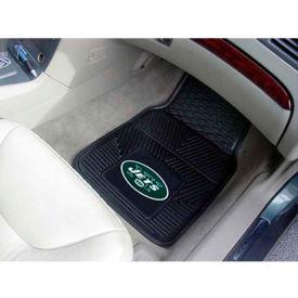 """NFL - New York Jets - Heavy Duty Vinyl 2 Piece Car Mat Set 17""""W x 27""""L - 8773"""