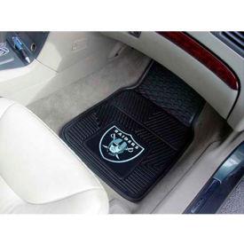 "NFL - Oakland Raiders - Heavy Duty Vinyl 2 Piece Car Mat Set 17""W x 27""L - 8774"