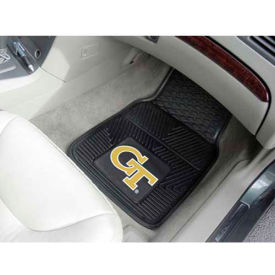 "Georgia Tech - Heavy Duty Vinyl 2 Piece Car Mat Set 17""W x 27""L - 8777"